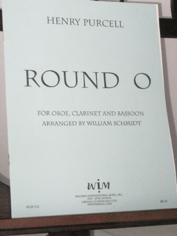 Purcell H - Round O for Oboe Clarinet & Bassoon arr Schmidt W